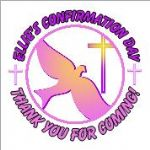 Personalised Girl Confirmation Stickers Design 1